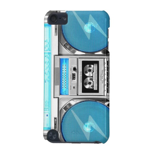 Blue boombox iPod touch 5G case