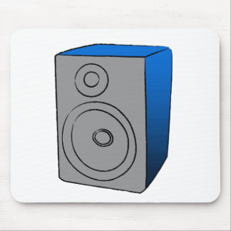 Blue BOOMBOX Mouse Pads
