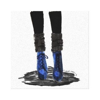 Blue Boots Canvas Print