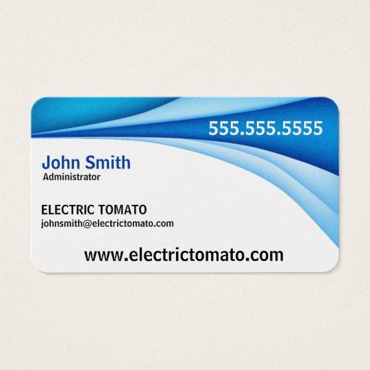 Blue Border Decorative Business Card