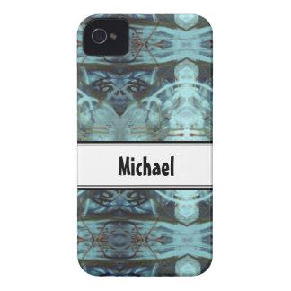 Blue Border Design iPhone 4 Cases