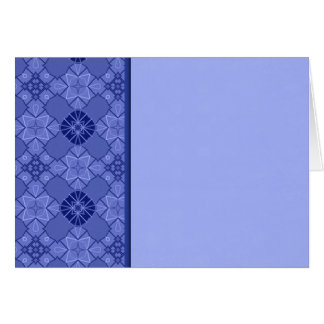 Blue Border Greeting Card