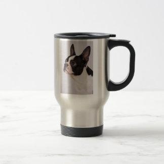 Blue Boston Terrier Dog Stainless Steel Mug