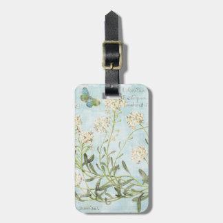 Blue Botanical Luggage Tag