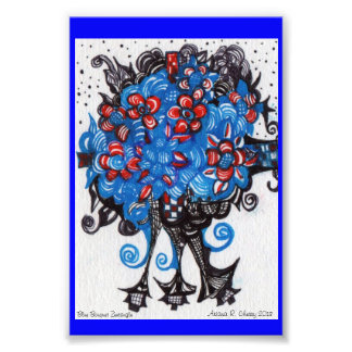 Blue Bouquet Photo Print