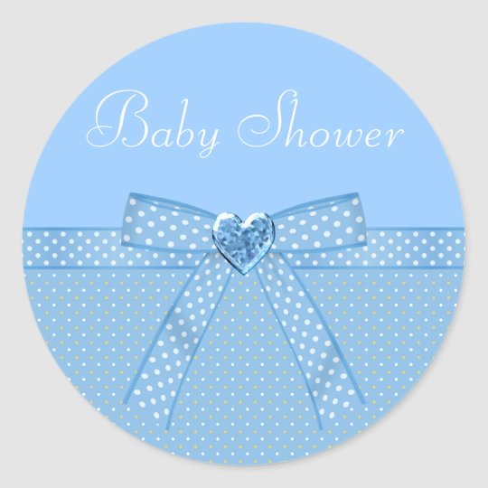 Blue Bow & Heart Jewels Boy Baby Shower
