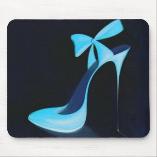 blue bow mouse pad