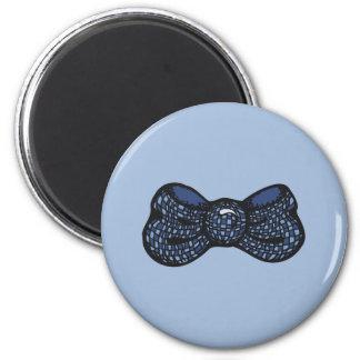 Blue Bow Tie 6 Cm Round Magnet