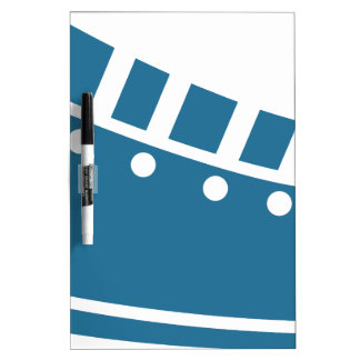 Blue Bowling Shoe Icon Dry-Erase Boards