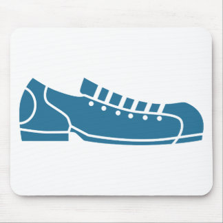 Blue Bowling Shoe Icon Mouse Pad