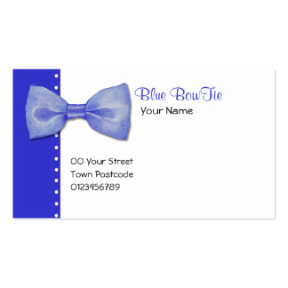 Blue BowTie Business Card