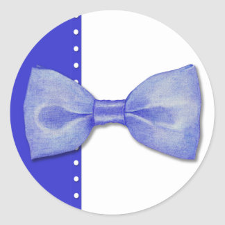 Blue Bowtie Sticker