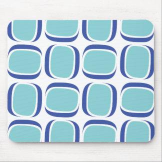 Blue Box 60s Pattern Mouse Pad