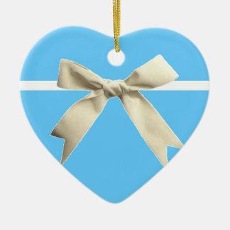 Blue Box Heart Ornament