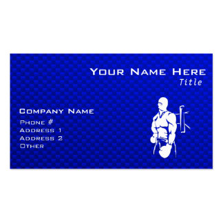 Blue Boxing Pack Of Standard Business Cards