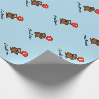 Blue boy 1st Birthday teddy bear wrappingpaper Wrapping Paper