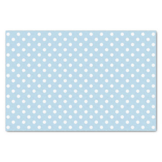 Blue boy baby shower gift polka dots tissue paper