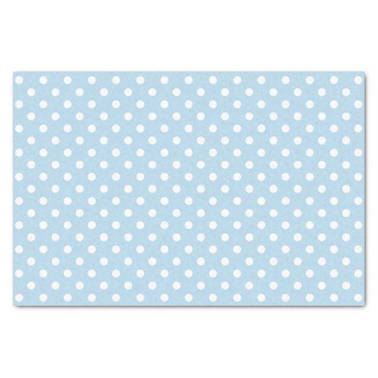 Blue boy baby shower gift polka dots tissue