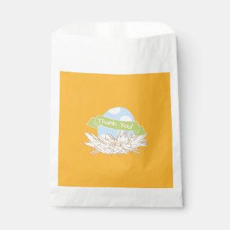 Blue Boy Baby Shower Modern Nature Favor Bag Favour Bags