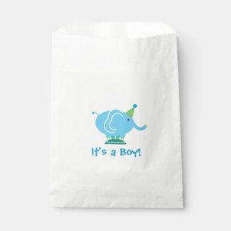 Blue Boy Elephant Gender Reveal Baby Shower Favour Bags