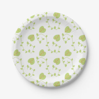 Blue Boy Vine and Leaf Modern Nature Paper Plate 7 Inch Paper Plate