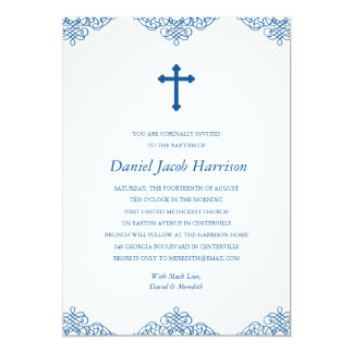 Blue Boys Baptism/Christening Card