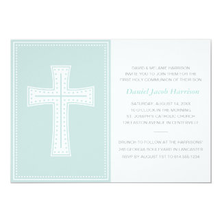 Blue Boys First Communion Card