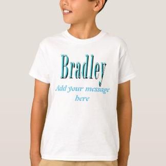 Blue Bradley Name Logo, T-Shirt