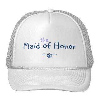 Blue Braid Maid of Honor Hat