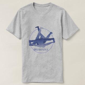 Blue Break Dance Basic Grey T-Shirt