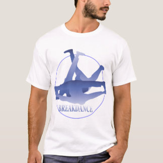 Blue Break Dance Performance Micro-Fiber Singlet T-Shirt