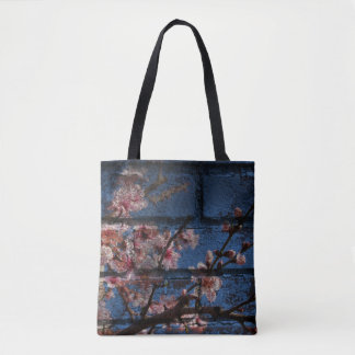 Blue Brick and Blossoms Totes