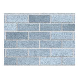 Blue Brick Wall Custom Invites