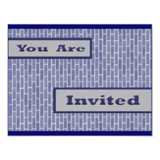 blue bricks invite