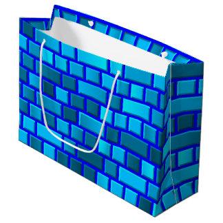 Blue bricks large gift bag