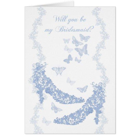Blue Bridesmaid Card - Will You Be My Bridesmaid