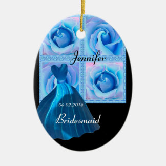 BLUE Bridesmaid Thank You Wedding Ornament