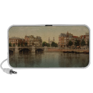 Blue Bridge and the Amstel River Amsterdam Mp3 Speakers