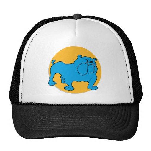 Blue British Bulldog Trucker Hats