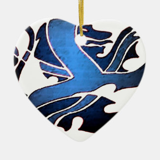 Blue British Lion Christmas Ornament