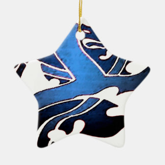 Blue British Lion Christmas Ornament