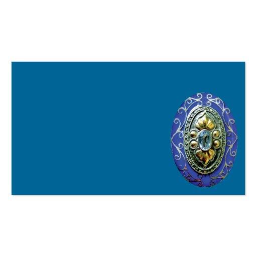 BLUE BROOCH JEWELS JEWELERY BEAUTY FANCY FASHION S BUSINESS CARD