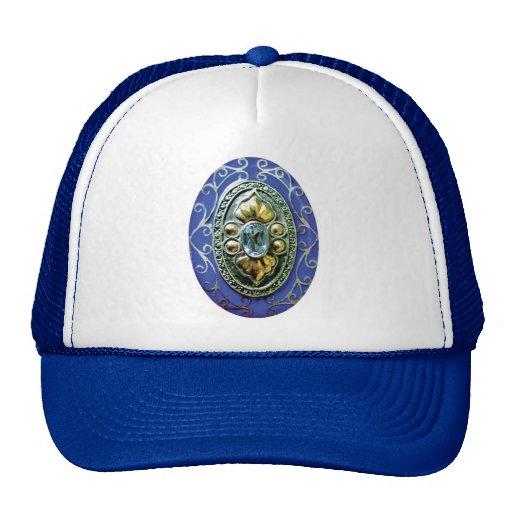 BLUE BROOCH JEWELS JEWELERY BEAUTY FANCY FASHION S HATS