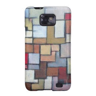 Blue Brown Abstract Urban Art Original Samsung Galaxy SII Cover