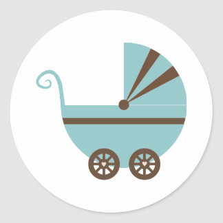 Blue & Brown Buggy Stickers