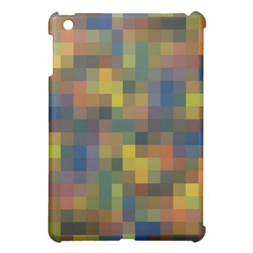 Blue Brown Check  Cover For The iPad Mini