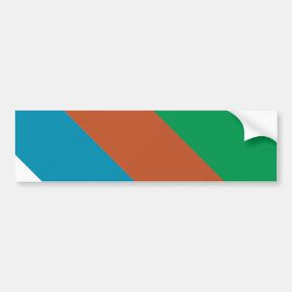 Blue Brown Green Stripes Bumper Sticker