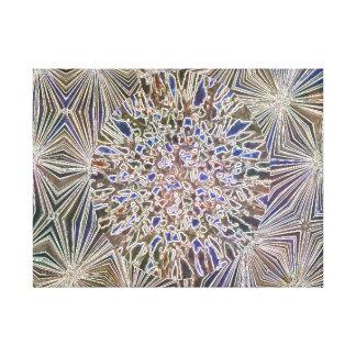 Blue Brown Mosaics Canvas Prints