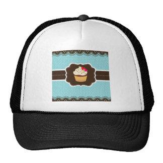 Blue//Brown Plaid cupcake Trucker Hat