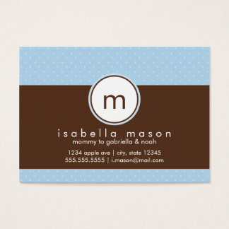 Blue & Brown Polkadot Mommy Card
